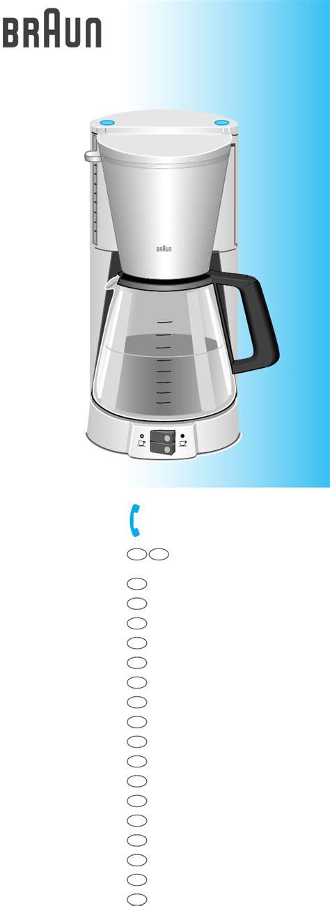 braun koffiezetapparaat kf 147 handleiding braun kf 147 pagina 1 van 21 dansk deutsch