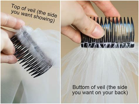how to connect a wedding veil to your hair combs bridal how to attach a wedding veil to a hair comb how to make a