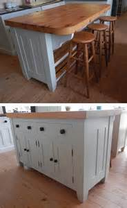 Freestanding Kitchen Island Unit by Handmade Solid Wood Island Units Freestanding Kitchen