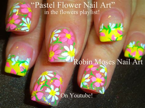 Blumen Nägel by Easy Flowers Nail Pastel Nails