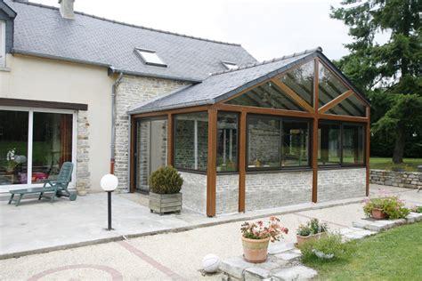 veranda toit 4 pans extension tecsabois charpente