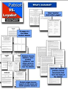 Debate Common Vs Classic by Patriots Vs Loyalists A Common Class Debate