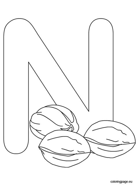 alphabet coloring pages n free coloring pages of letter n nest