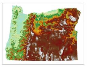 topographical map of oregon oregon map gallery oregon