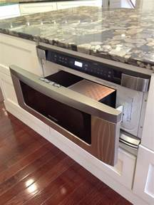 drawer microwave in kitchen island j hall homes inc