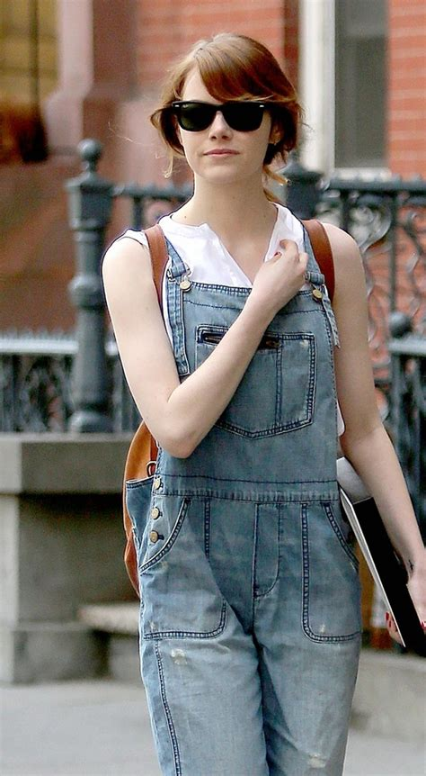 whatever floats your boat t shirt old navy emma stone in denim overalls denimology