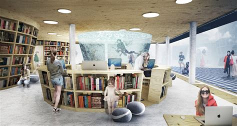Modern Interior Design Ideas gallery of culture island public library proposal ugo