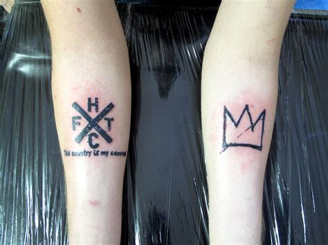 basquiat tattoo image result for basquiat crown animals tattoos
