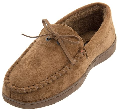 dockers mens slippers dockers cinnamon moccasin slippers for