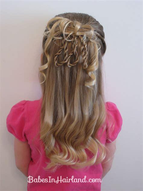 hairstyles with rope braids fancier 3 rope braid loop hairstyle babes in hairland