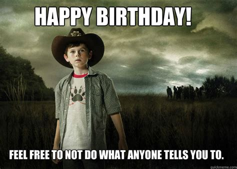 Walking Dead Birthday Meme - happy birthday walking dead meme memes