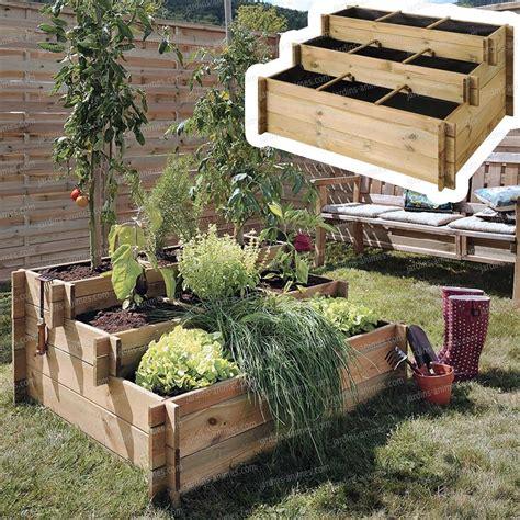 Jardin Potager En Bois by Carr 233 Potager 3 233 Tages Bois Trait 233 G 233 Otextile Carr 233