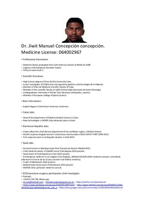 Example Of A Simple Resume by Curriculum Vitae English