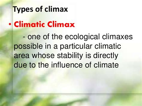 climax pattern theory ecotone and edge effects ecological succession
