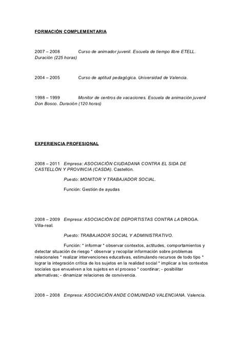 Modelo Curriculum Trabajo Modelo De Curriculum Vitae Trabajo Social Modelo De Curriculum Vitae