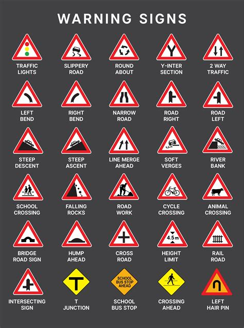 what color are warning signs how well do you ph road signs autodeal