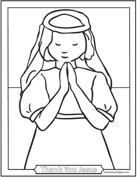 Girl Praying Coloring Page Az Coloring Pages Praying Coloring