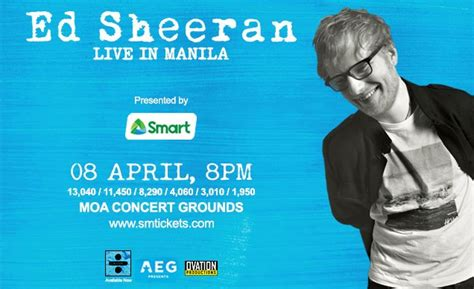 ed sheeran live in manila clickthecity events 2018 concerts to look forward to