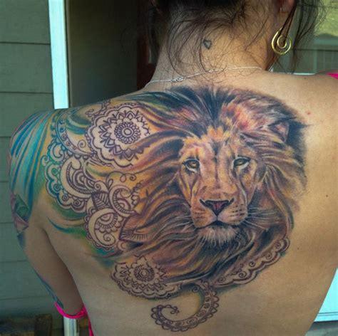 tattoo back lion gorgeous lion tattoo on back design of tattoosdesign of