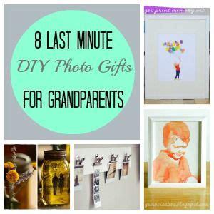Handmade Grandparent Gifts - 8 last minute diy photo gifts for grandparents diy photo