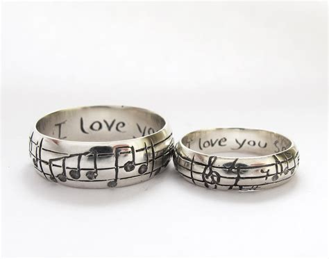 Wedding Rings Original Design by Wedding Rings Personalized Name Ring Sterling Silver