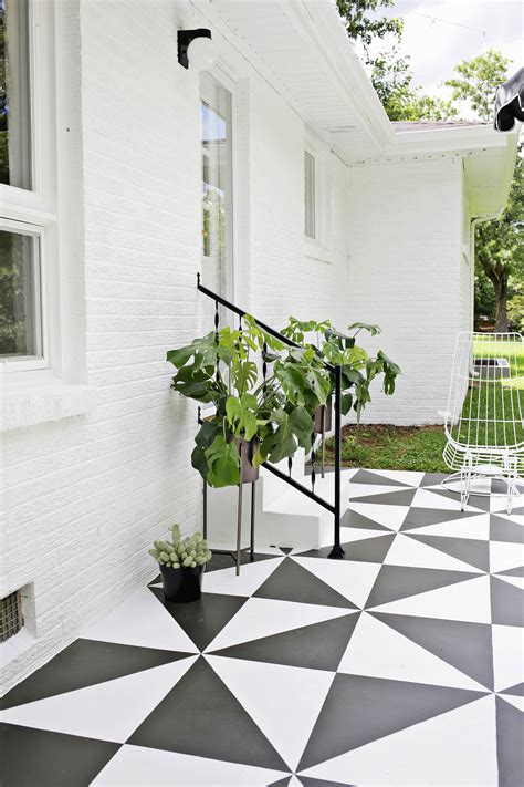 painted patio tile diy  beautiful mess
