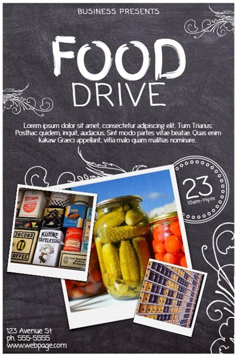 Food Drive Template Postermywall Food Drive Template Free