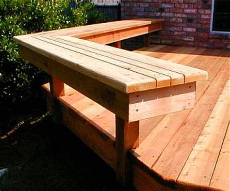 Simple Deck Bench best deck benches design ideas