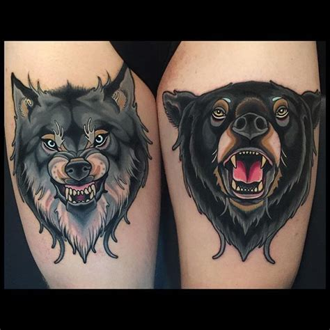 best 25 wolf tattoo traditional ideas on pinterest