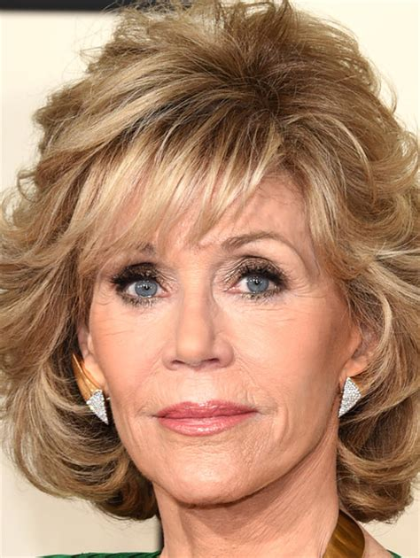 what color hair is jane fondas more pics of jane fonda curled out bob 3 of 10 jane