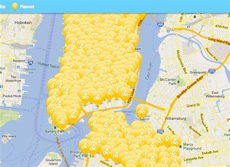 citibike map citi bike comes to new york walks of new york