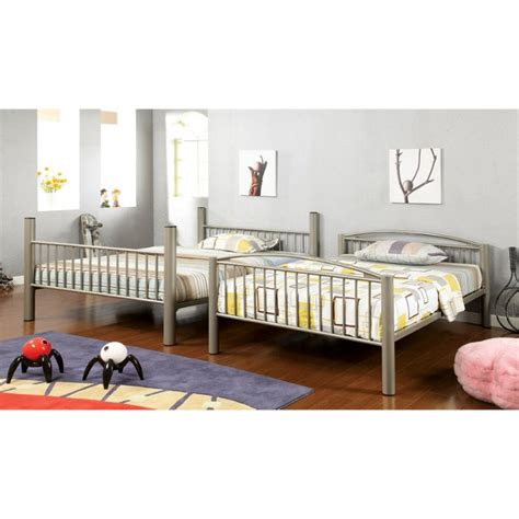 full over full metal bunk beds furniture of america lohani full over full metal bunk bed