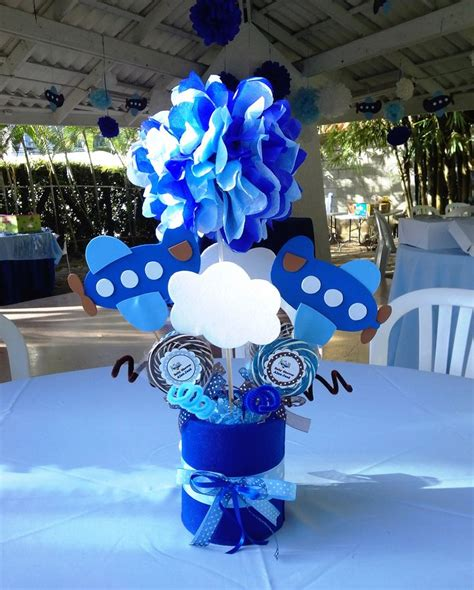 airplane baby shower centerpiece creations by me baby showers babies and