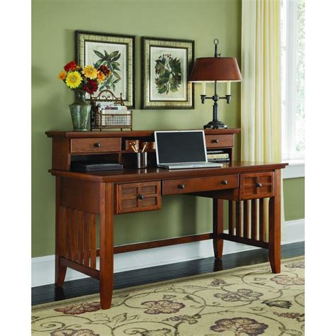 home styles arts crafts cottage oak desk with hutch 5180
