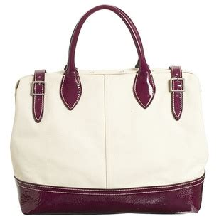 Trovata Canvas And Patent Tote The Bag Snob 7 by Link Time Popsugar Fashion