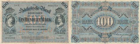 sachsen bank dresden 100 1911 deutsches reich sachsen dresden