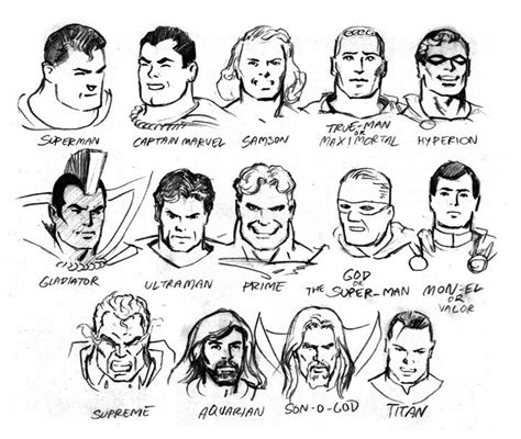 superhero hairstyles men roberson s interminable ramble alex ross super types