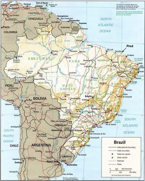 neighboring countries of brazil detailed map of brazil and surrounding countries vila