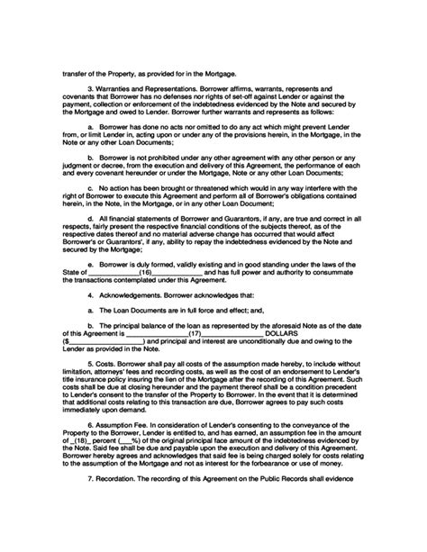mortgage assumption agreement template mortgage assumption agreement template 28 images sle