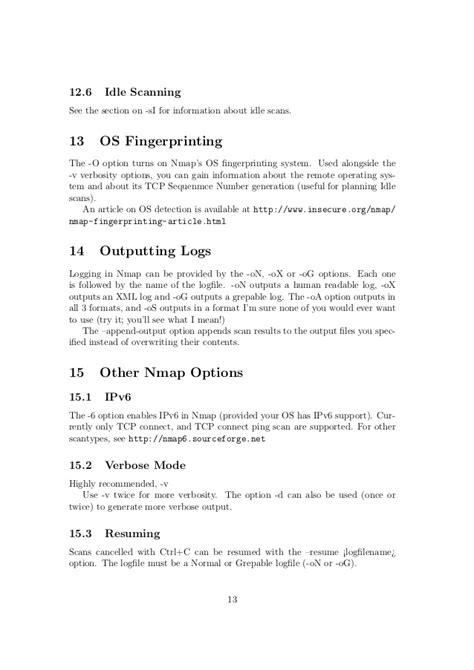 nmap fingerprinting tutorial nmap tutorial
