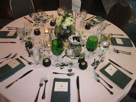 irish themed tables   Shamrocks, Spirits and Supper: An