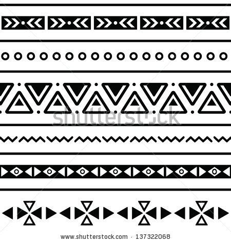 easy tribal pattern black and white aztec seamless pattern tribal black and white background