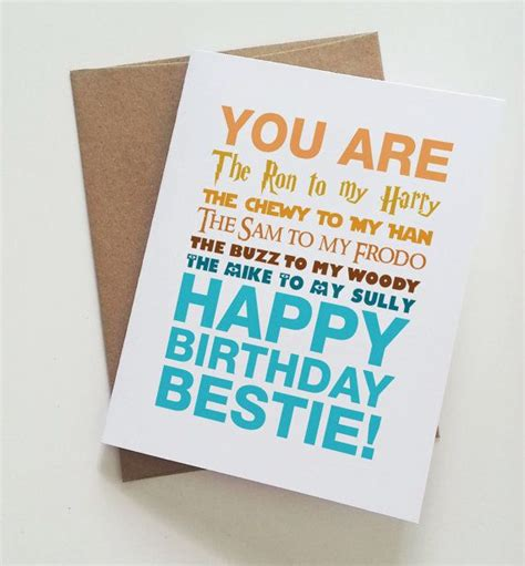 Birthday Card Greetings For Best Friend Best 25 Best Friend Birthday Cards Ideas On Pinterest