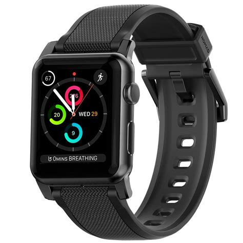 Nomad Sport Apple 42mm Band Silicone Black Grey silicone for apple nomad