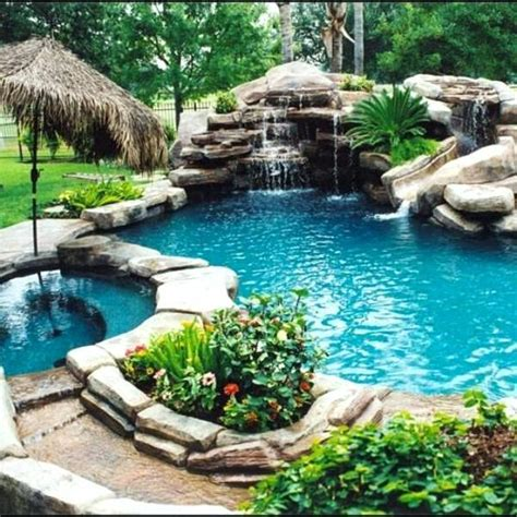 waterfalls for inground pools pool with waterfall bullyfreeworld com