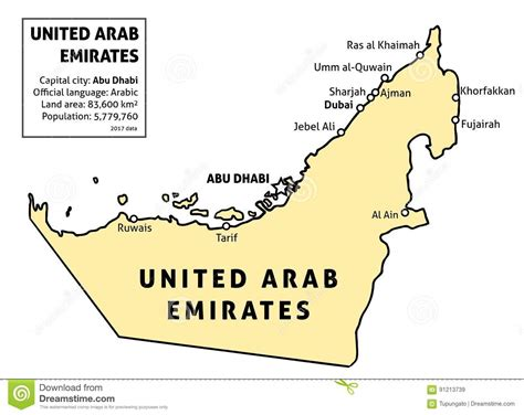 arab emirates map popular 208 list map of uae