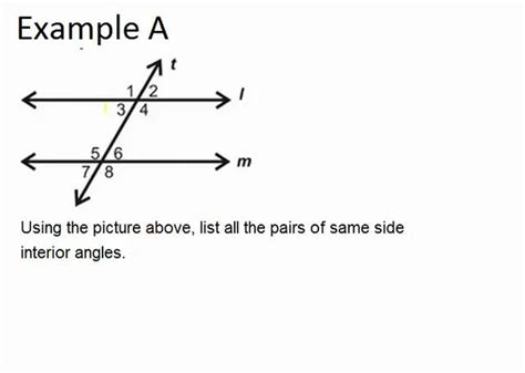 What Is A Same Side Interior Angle by Same Side Interior Angles Ck 12 Foundation