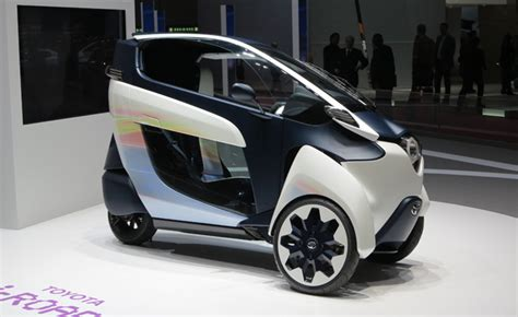 Car New Toyota Toyota I Road Concept Is Half Scooter Half Car