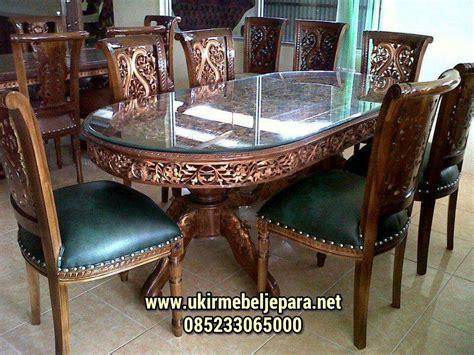 Meja Makan Jati Asli jual set meja makan ukiran jati jepara terbaru harga terjangkau call 6285233065000 zahir