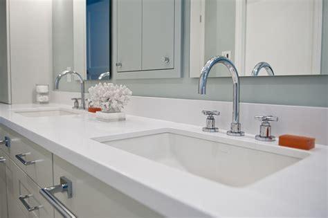 white caesarstone bathroom vanity